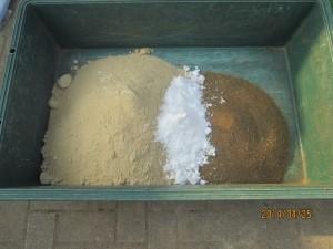 ぼかし肥・米ぬか,砂糖,油かす