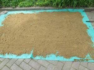 ぼかし肥を日陰で乾かし完成・保存方法