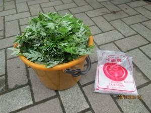 140615ヨモギ天恵緑汁・材料